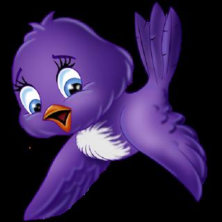 Blue Birds Birds Clip Art Clipart Passaro Passaro Roxo Desenho De Desenho Animado