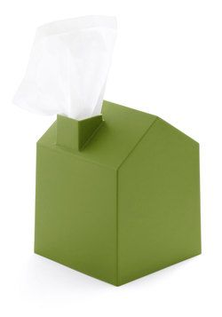 Nose Place Like Home Tissue Holder in Green, #ModCloth