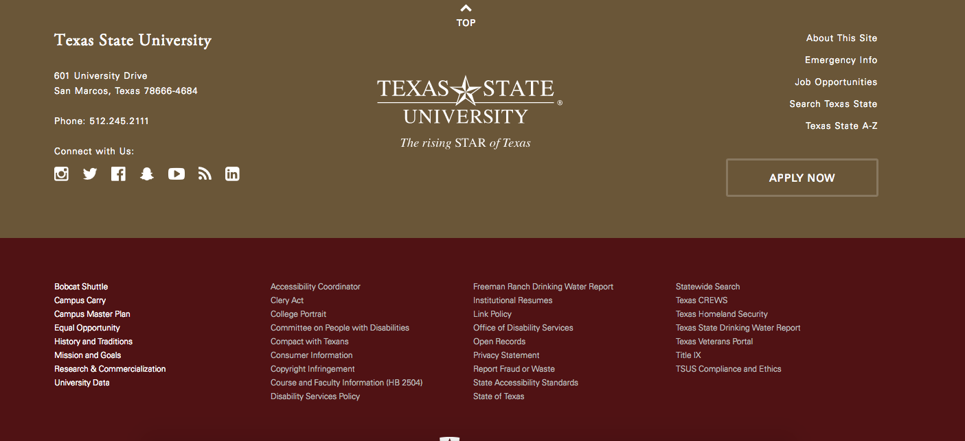 Footer Texas State University How To Apply Job Opportunities