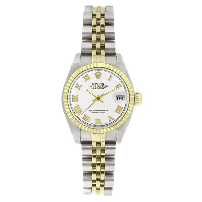 Refurbished Pre-owned Rolex Women's 6917 Datejust Two-tone Roman Watch