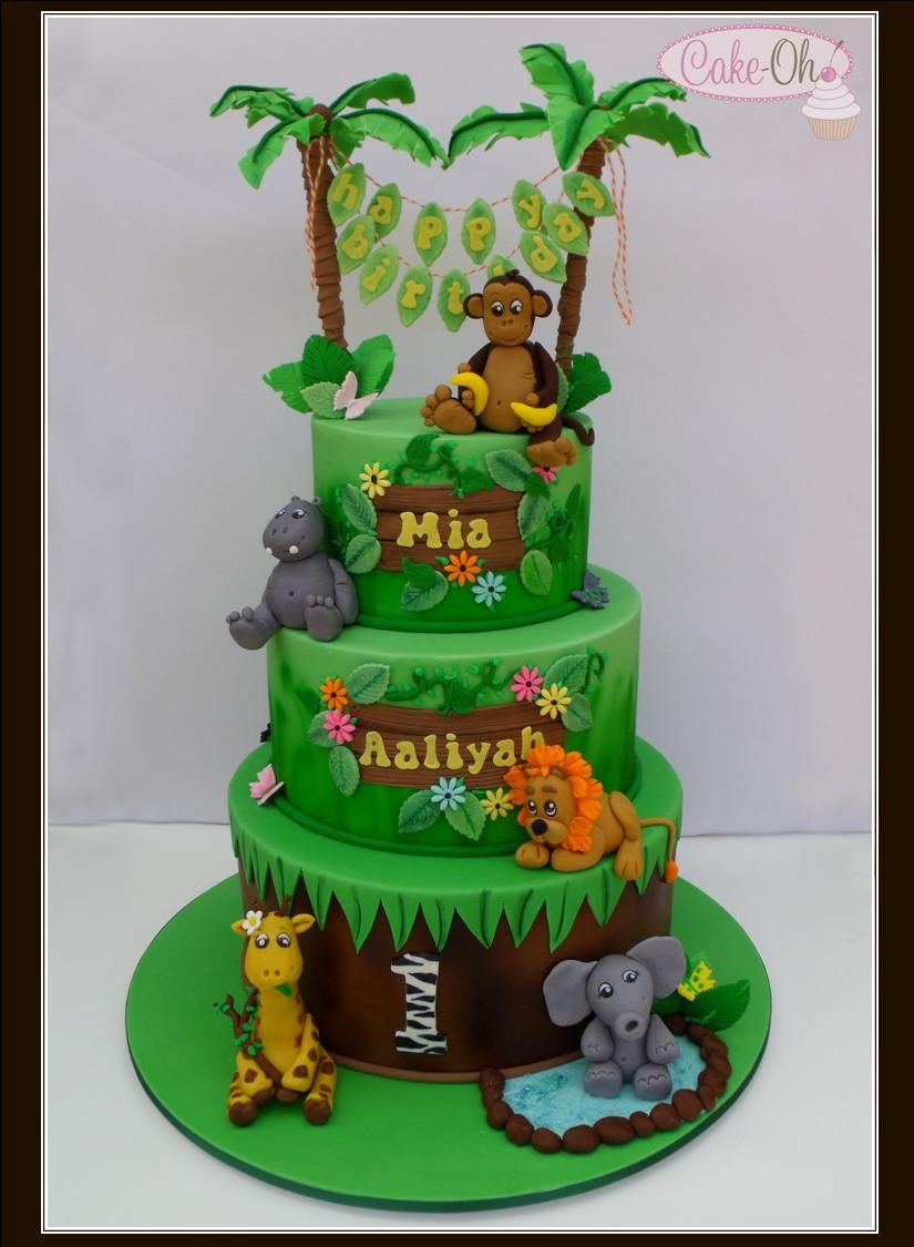 Jungle Birthday Cake Www Cake Oh Com Au Animal Bday Party