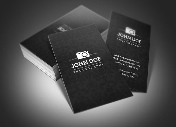 Photography Business Card Simple Elegant And Professional - Photography business card template