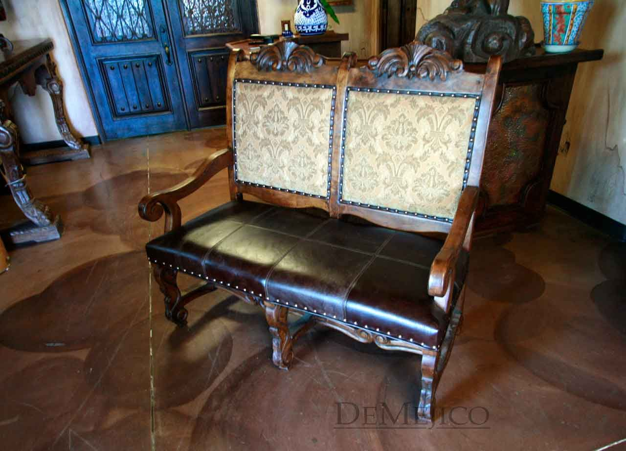 Love The Elegance Of This Bench And Itu0027s Comfortable. Mexican FurnitureRustic  FurnitureBenchesSpanish StyleHome IdeasVignettesLos AngelesHaciendasWood
