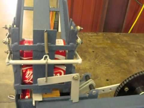 Mechanical Can Crusher With Auto Feed Youtube Can Crushers