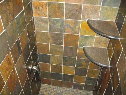 Tile Shower Shelf Ideas | shower stall shelf another option pre made ...
