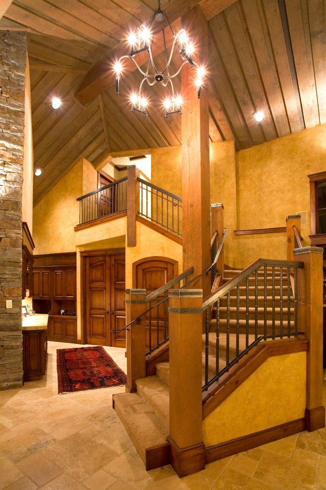 Best Stair Railing Floor Ceiling Lodge Style Flooring 640 x 480