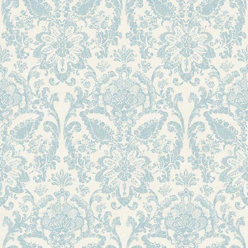 American Clics White Robin Egg Blue And Beige Wallpaper
