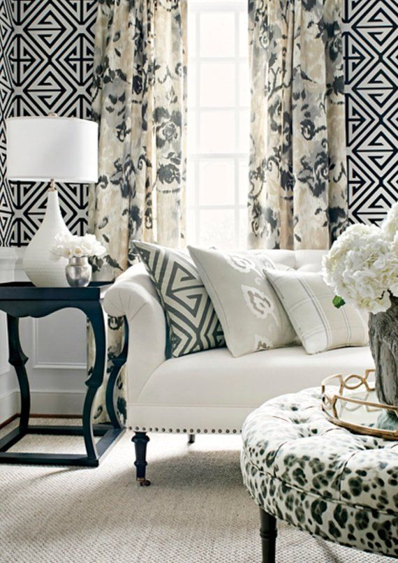 grey floral curtains gray beige curtains thibaut curtains curtain panels light cream colored. Black Bedroom Furniture Sets. Home Design Ideas