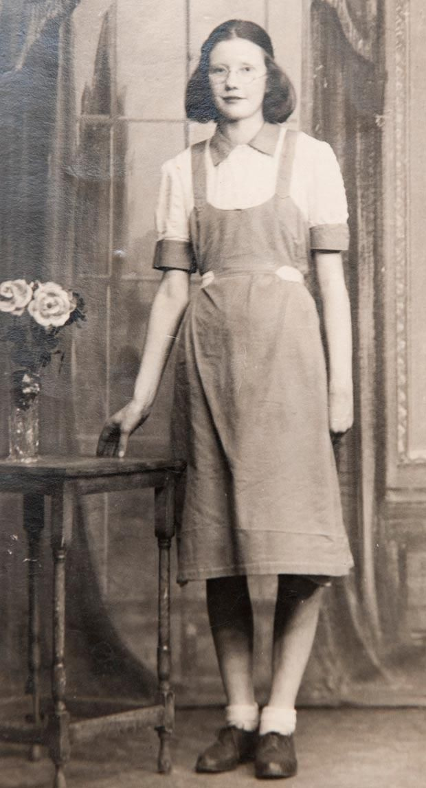 """Forded into hard labor at the tender age of 14, Kathleen Legg's only crime was being born out of wedlock. The Magdalene Laundries seemed the perfect solution to hide her """"shameful secret"""".  She was sent to St Mary's Training School, Stanhope Street, Dublin, where she lived and worked in horrific conditions. Here is Kathleen at the workhouse in Dublin aged 15."""