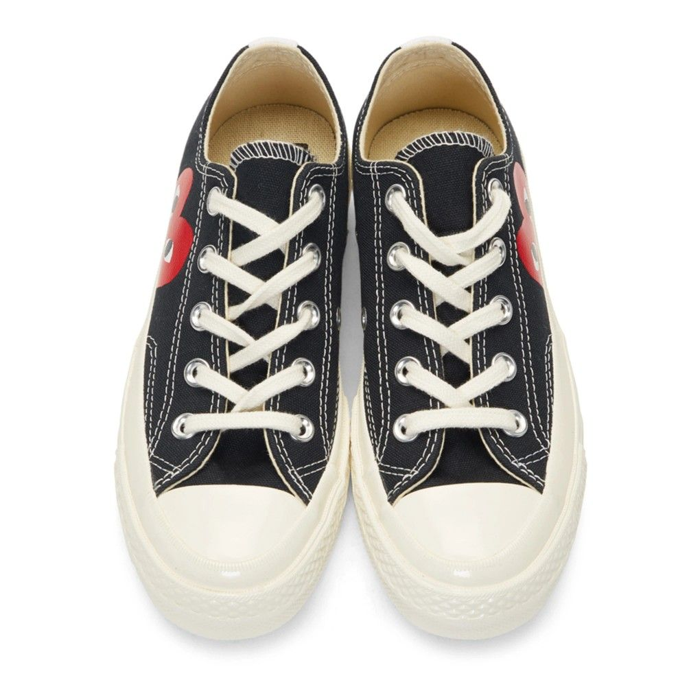 3274ca2285c91e Comme des Garçons Play Black Converse Edition Half Heart Chuck 70 Sneakers  to buy online Celebrity