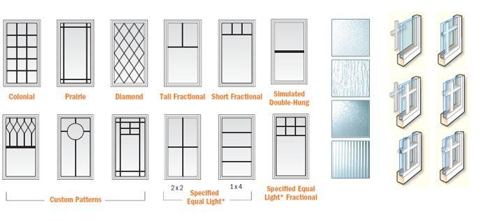 custom window grille pattern - like one on far left