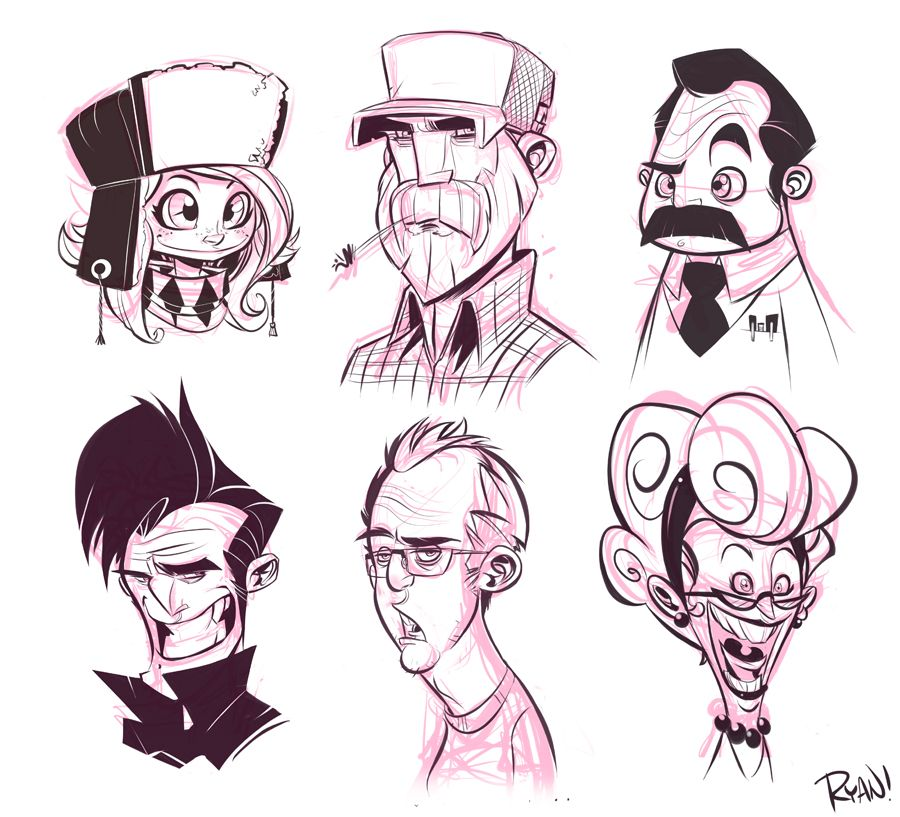 Cartoonsmart Character Design With Illustrator : Faces by frogbillgo on deviantart cartoon characters