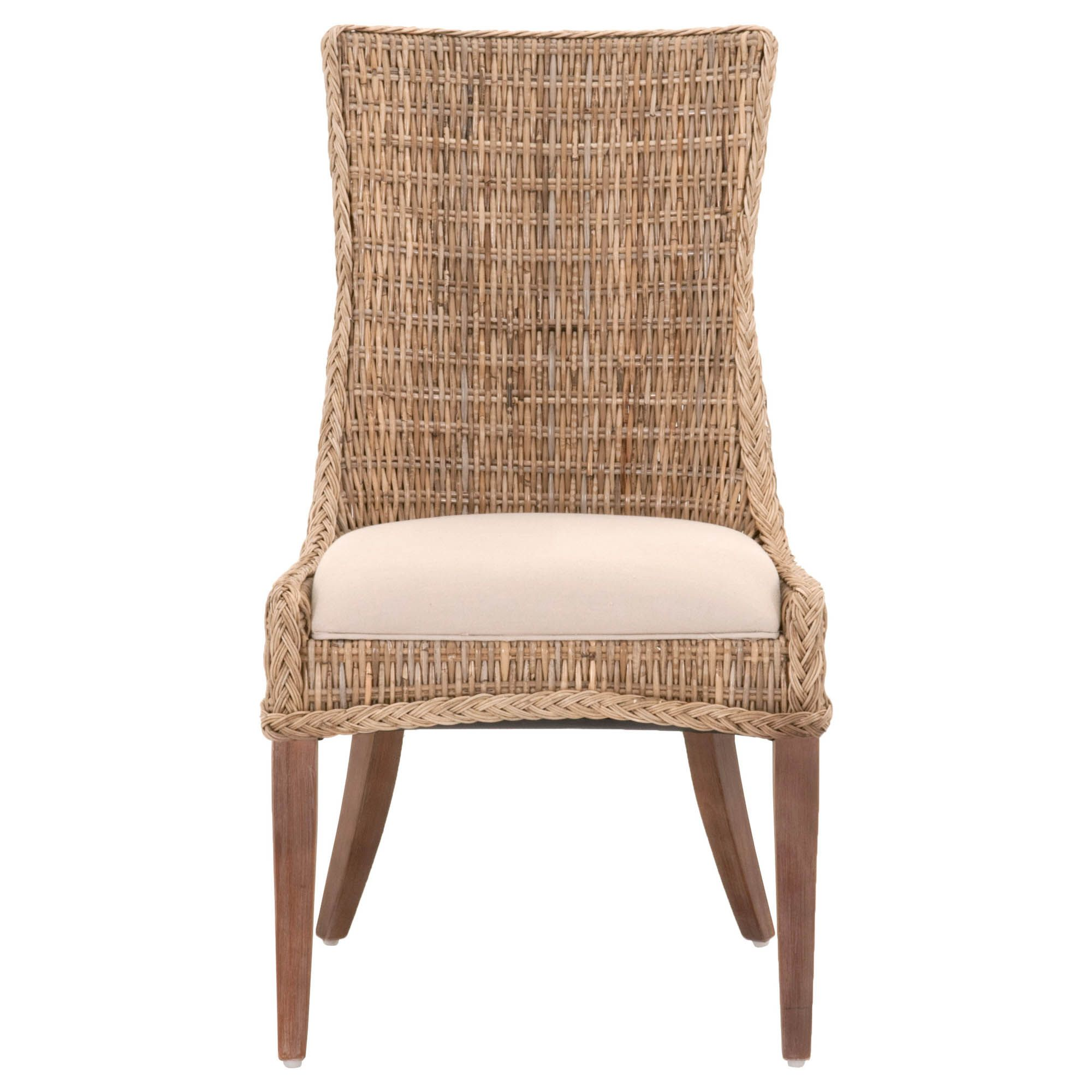 Greco Dining Chair Gray Kubu In 2020 Wicker Dining Chairs Solid Wood Dining Chairs Dining Chairs