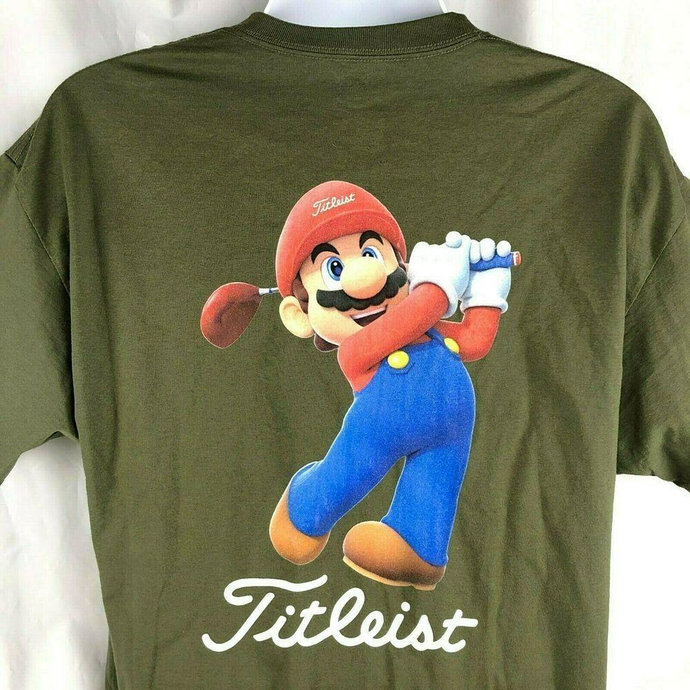 Mario Golf Titleist T Shirt Xl Mens Army Green Nintendo Gamer Icon Titleist Graphicteetshirt Mario Nintendo Ninten Army Green Golf Shirts Golf Polo Shirts [ 1000 x 1000 Pixel ]