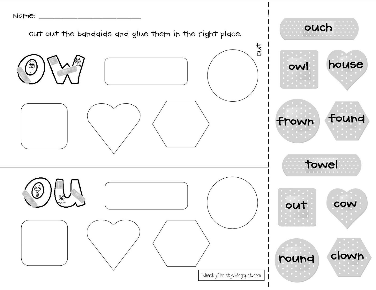 Worksheets Ou Ow Worksheets like this owou activity teachers pay activities teachers
