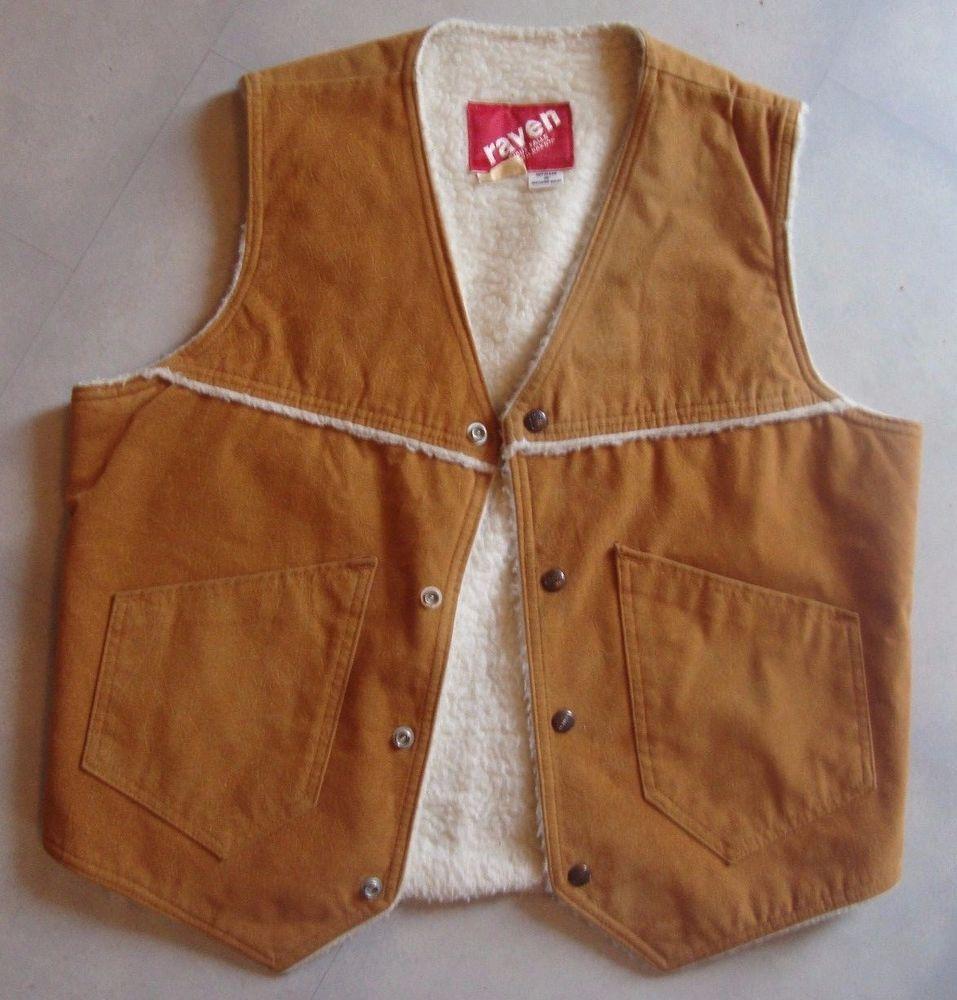 Western Cowboy Sherpa Faux Leather Suede Fleece Lined Vest Mens 44 X Lrg Usa Genuineleather Men S Coats Jackets Coats Jackets Vests Mens [ 1000 x 957 Pixel ]