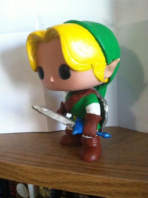 Legend of Zelda Link custom Funko POP by MadLoveToys on Etsy, $60.00