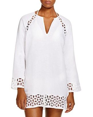 db4c2a6215cb03 TORY BURCH Embroidered Linen Tunic Swim Cover Up.  toryburch  cloth ...