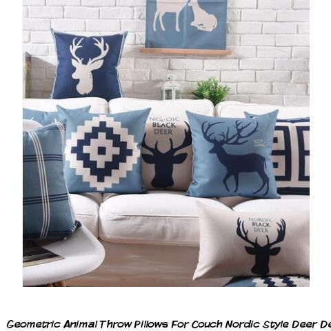 Marvelous Geometric Animal Throw Pillows For Couch Nordic Style Deer Inzonedesignstudio Interior Chair Design Inzonedesignstudiocom