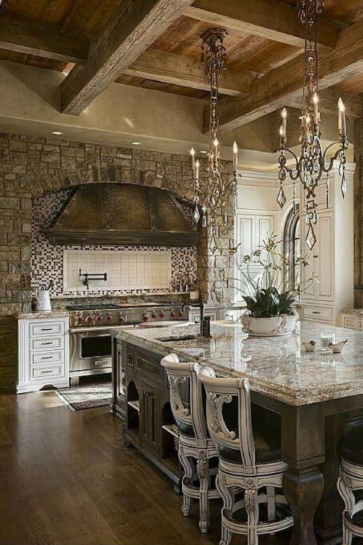 Pure luxury kitchen. It is very ornate. Look at the wood