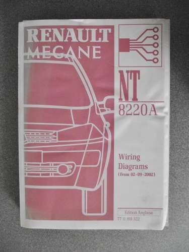 U00a329 99 Renault Megane Wiring Diagrams Workshop Manual 2002 7711318322 Nt8220a