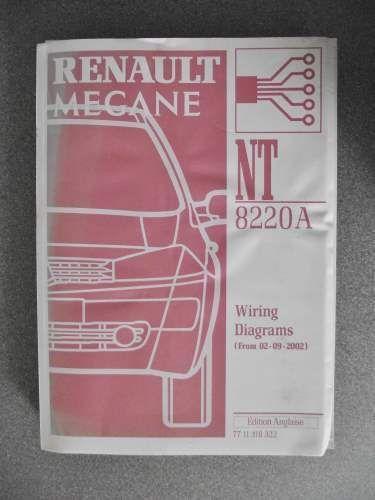 U00a329 99 Renault Megane Wiring Diagrams Workshop Manual 2002