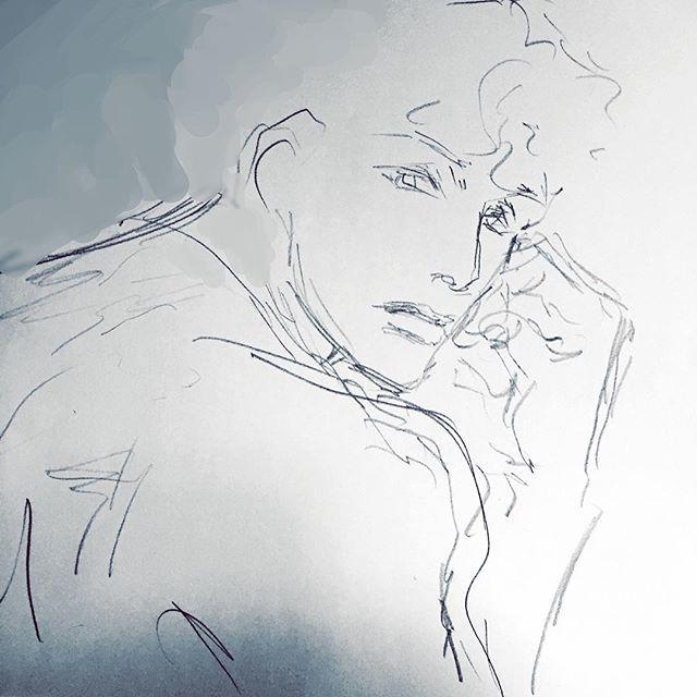 彼の憂うつな顔 こういう時 声をかけたらいいのか かけない方がいいのか…  #イラスト #illustration #drawing #青年 #憂鬱 #もと #もとp fukudamotoko 2016/09/12 09:30:35