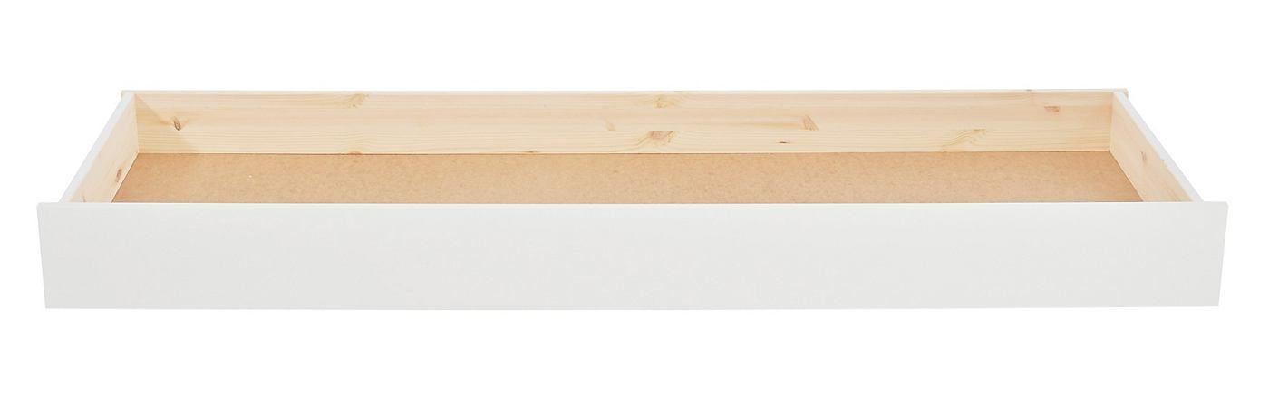 Artikeldetails:  Geräümiger Schubkasten, Auf Kunststoff-Rollen,  Material/Qualität:  Kiefer massiv (Holzstruktur sichtbar)FSC®-zertifiziert,  Wissenswertes:  Außenmaße (B/T/H): 185/64/20 cmInnenmaße (B/T/H): ca. 180/60,5/12 cmSelbstmontage mit AufbauanleitungAlle Maße sind ca.-Maße,  ,  ,  ,  ,  ...