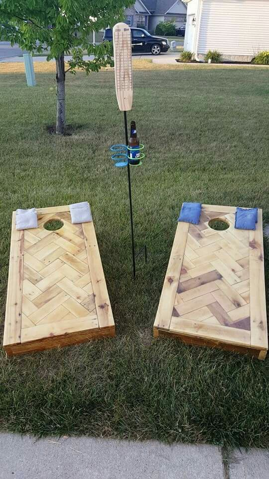 Diy Pallet Cornhole Boards Diy Yard Games