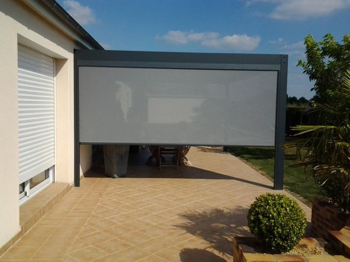 pergola bioclimatique avec store zip terrasse pinterest pergola bioclimatique store. Black Bedroom Furniture Sets. Home Design Ideas