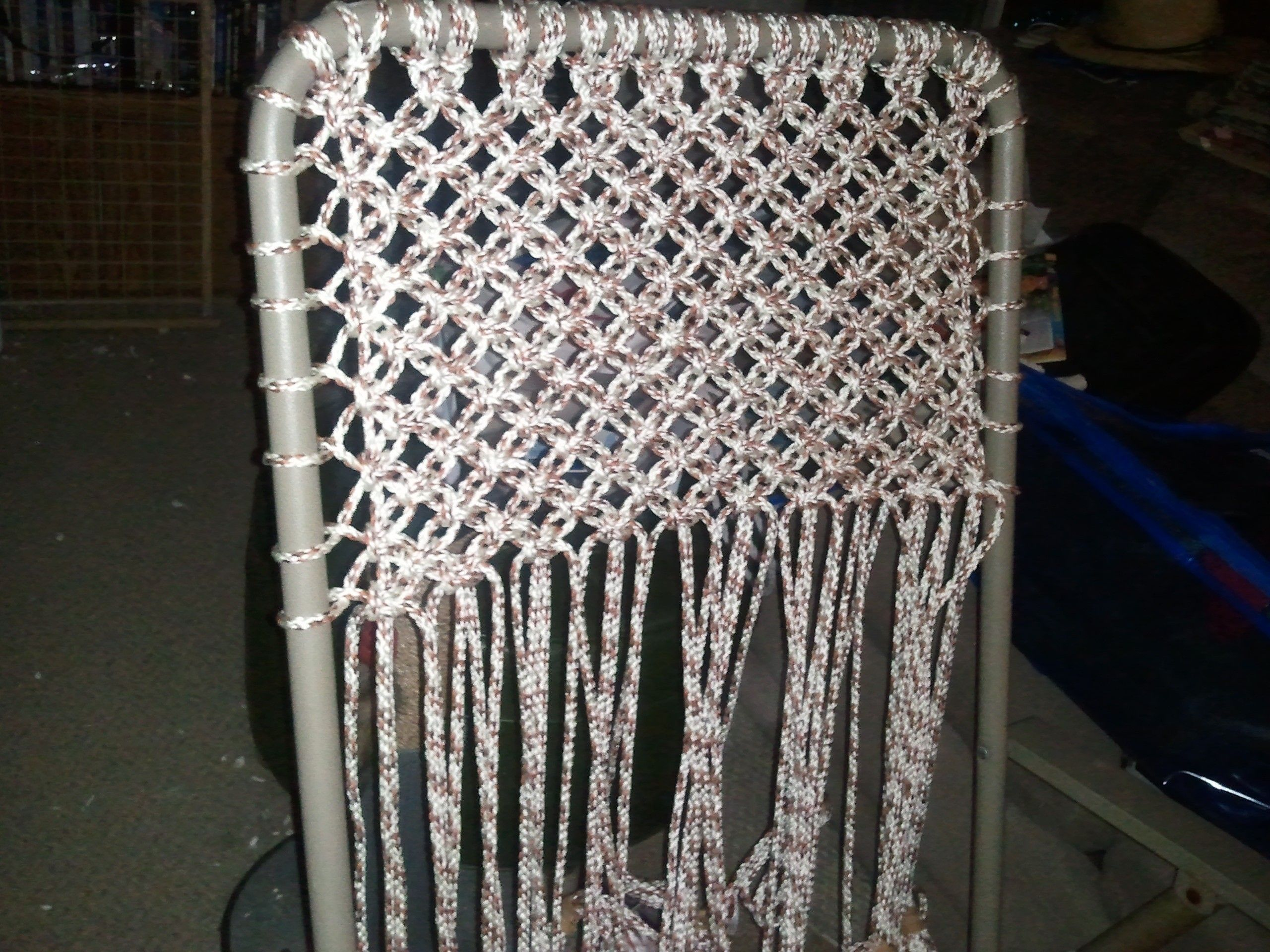 macrame lawn chair patterns macrame lawn chair alternating square knots couldn t 9479