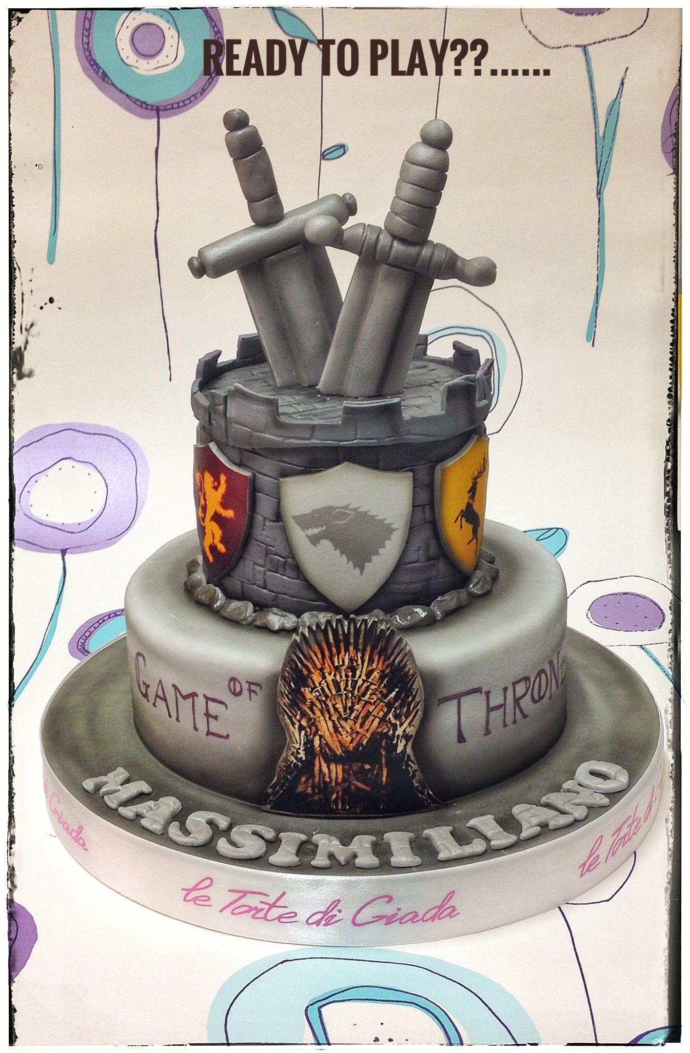 game of thrones theme of cake by le torte di giada brescia. Black Bedroom Furniture Sets. Home Design Ideas