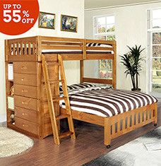 From Classic Ladder Equipped Styles To Designs With Built In Dressers These Lofted Beds Are Eye Catching Upgrades F Cool Bunk Beds Bunk Beds Modern Bunk Beds