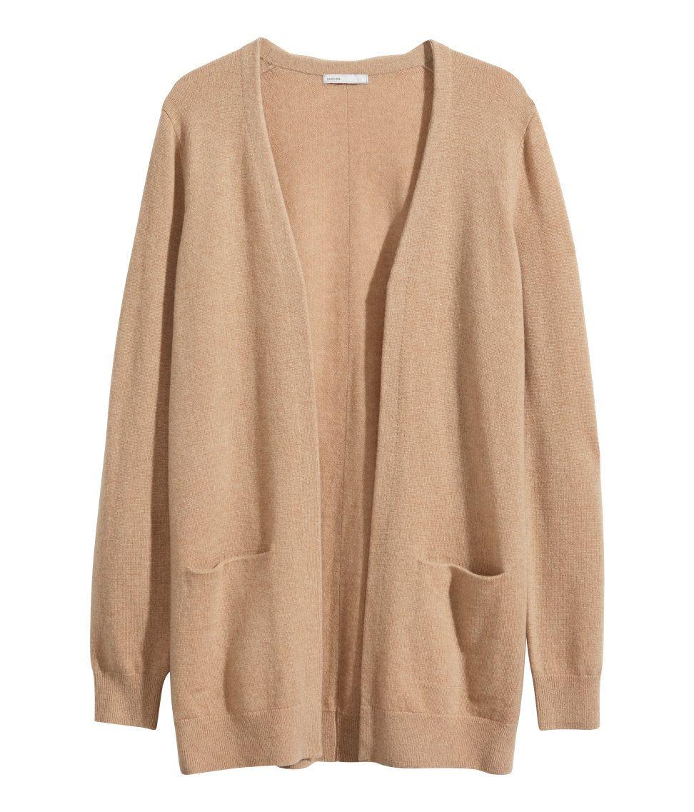 H&M cashmere cardigan in camel | autumn wishlist | Pinterest ...