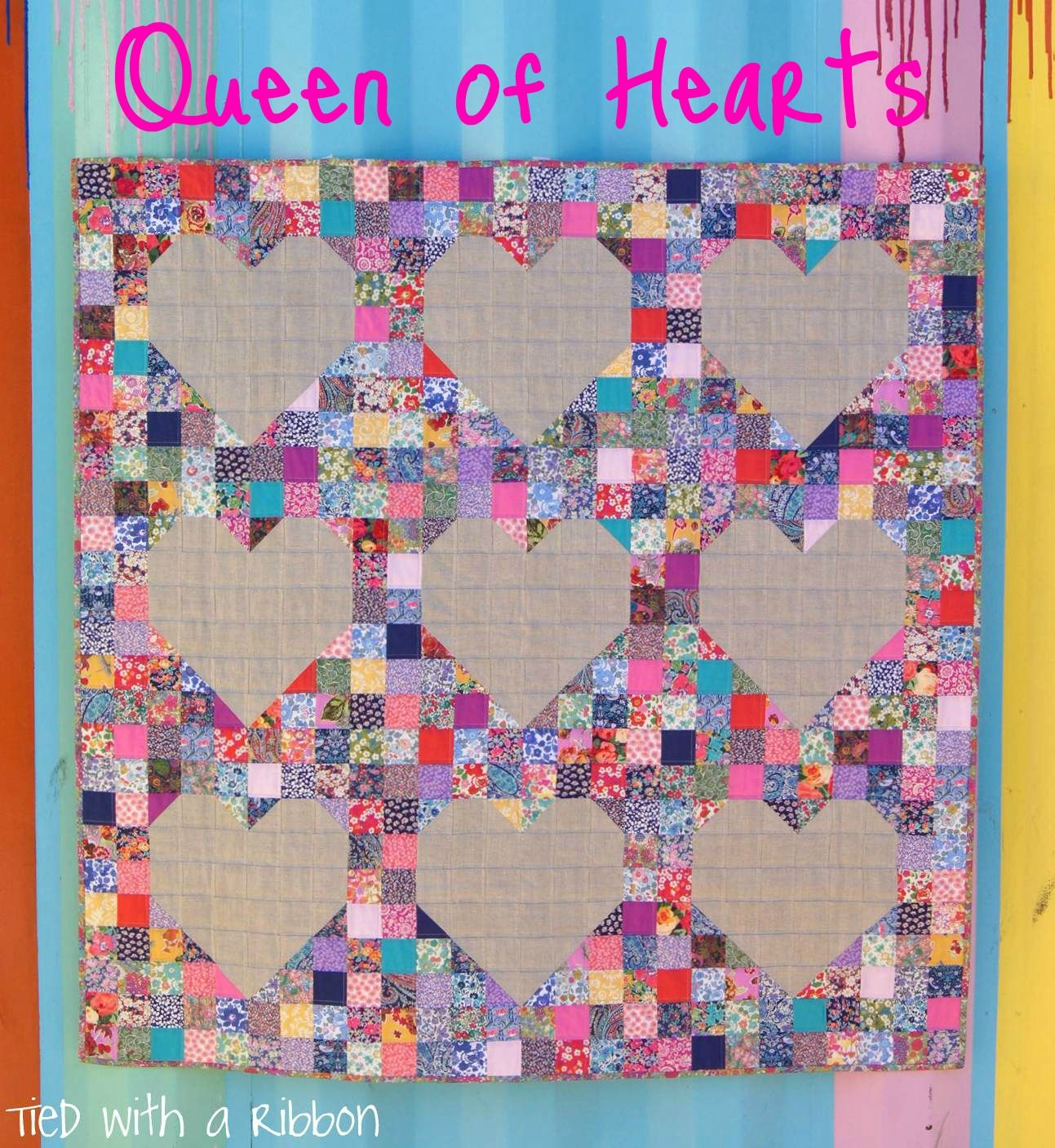 Introducing my latest quilt pattern queen of hearts isnut it a
