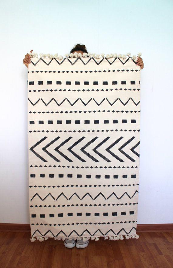 Scandinavian Rug Tribe Pattern Rug Nordic Style Rug Scandinavian Decor Nordic Decor Minimalist White Rug Morrocan Rug Minimalist Rug