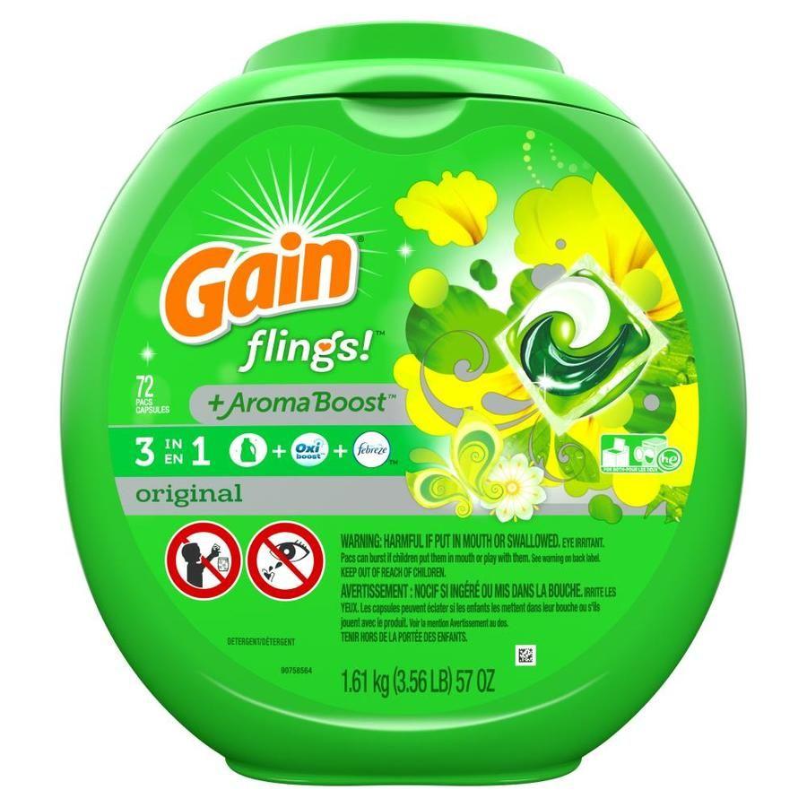 Gain 72 Count Original He Laundry Detergent 3700086792 In 2020