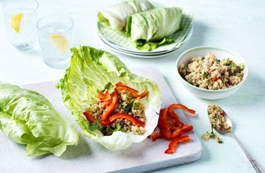 Recipe image cooking pinterest lettuce coriander and quinoa these tasty lettuce quinoa wraps make the perfect snack or light lunch take a look at this many more healthy lunch recipes at tesco real food today forumfinder Images