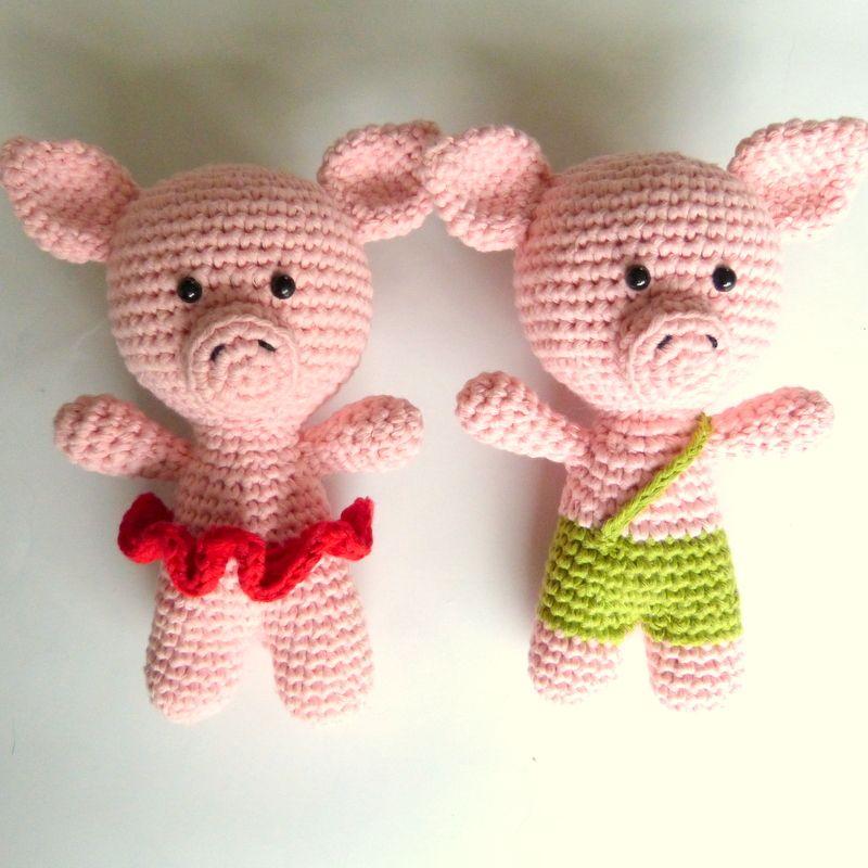 Diese kleinen Schweine häkeln. Anleitung Kostenlos Niederländisch ...