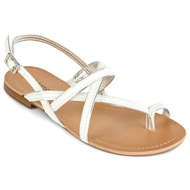 aa1ef257f47e Liz Claiborne Sonny Flat Slingback Sandals - jcpenney