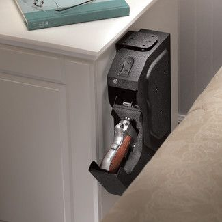 biometric lock gun safe for nightstand in bedroom dream house rh pinterest com