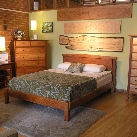 Sunrise Platform Bed Solid Wood Handmade Organic Finish