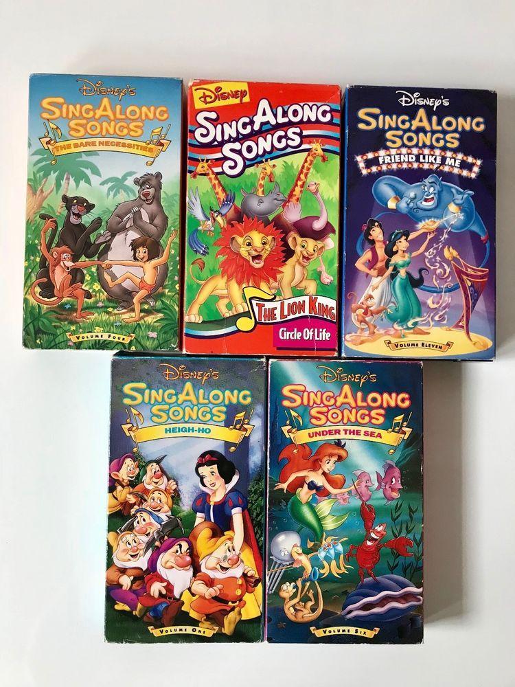 19 Disney Sing Along Songs Vhs Ideas Sing Along Songs Singing Songs