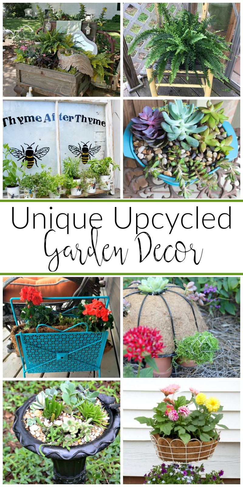 Unique Garden Decor, Unique Gardens, Diy Garden Decor