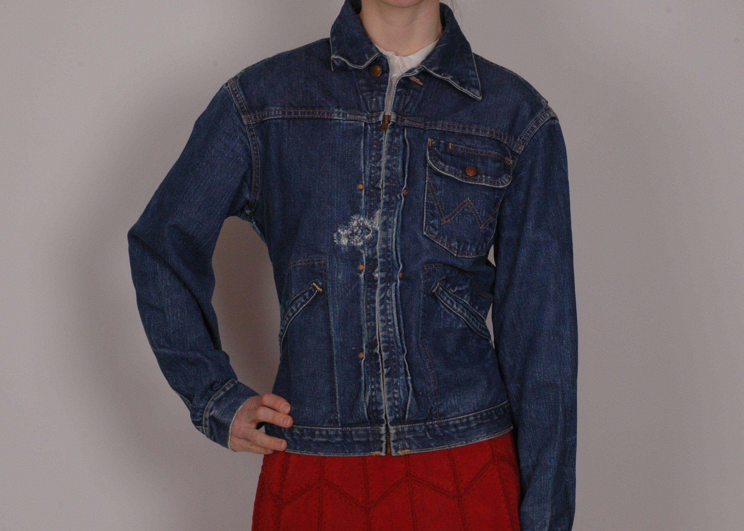 True Vintage Bluebell Wrangler 24mjz 1960s Denim Jacket Etsy Denim Jacket Jackets True Vintage [ 1804 x 2527 Pixel ]