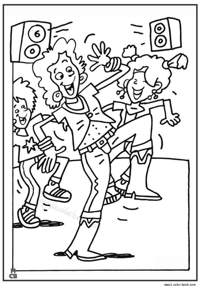 Pin by Magic Color Book on Dance Coloring pages | Pinterest | Disco ...
