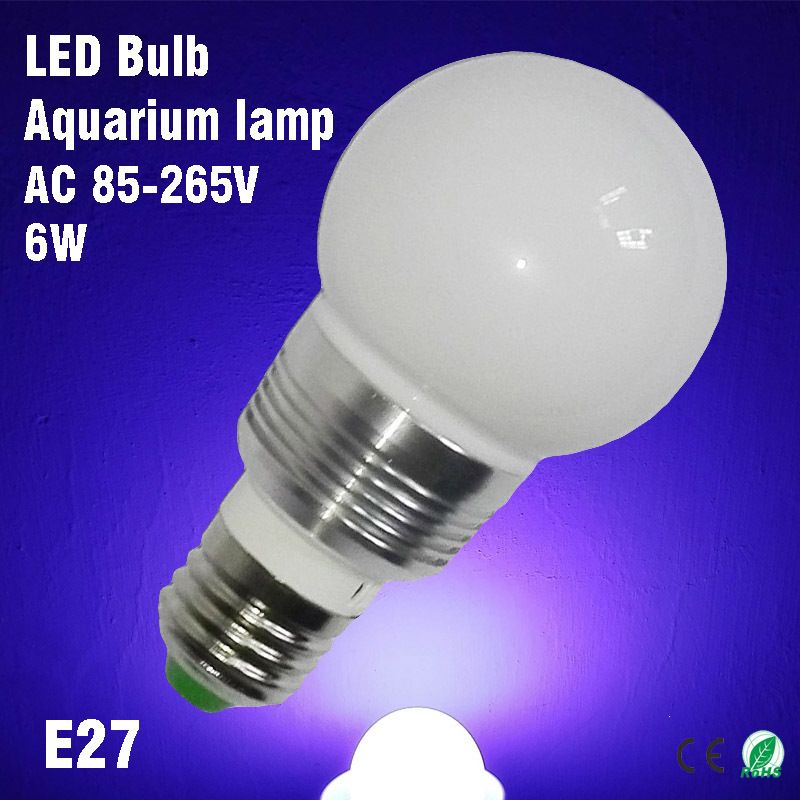 White Compact Fluorescent Bulb Provides White And Blue Light For Aquariums