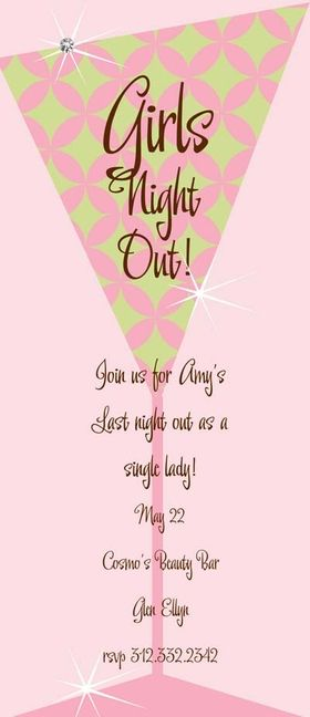 girls night invitation wording free download girls night out