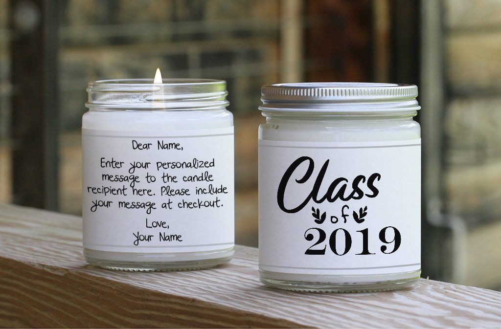 Class of 2020 candle unique graduation gift graduate