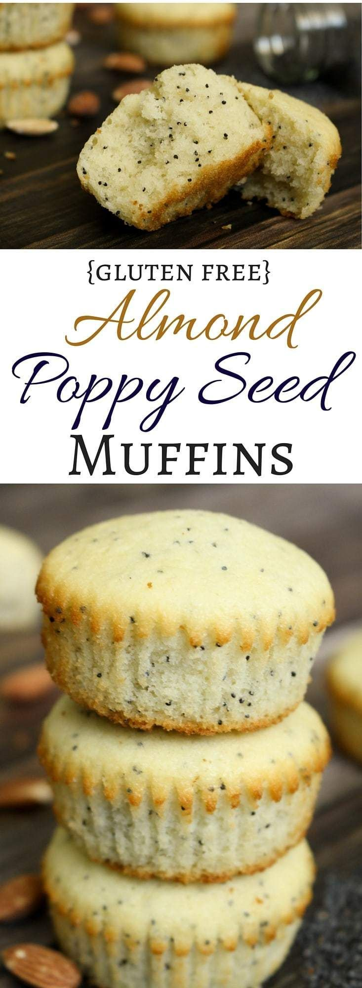 Soft, buttery, gluten free muffins bursting with almond flavor and crunchy poppy seeds are reminiscent of those bakery muffins we all love! They are the star of any breakfast spread and also make a great grab-and-go snack. #glutenfreebreakfasts